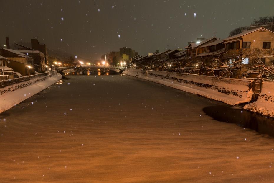 2016.01.25主計町の雪景色3