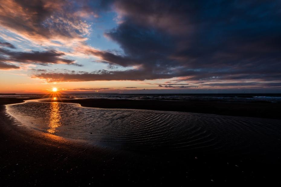 2016.02.08内灘海岸の夕陽1