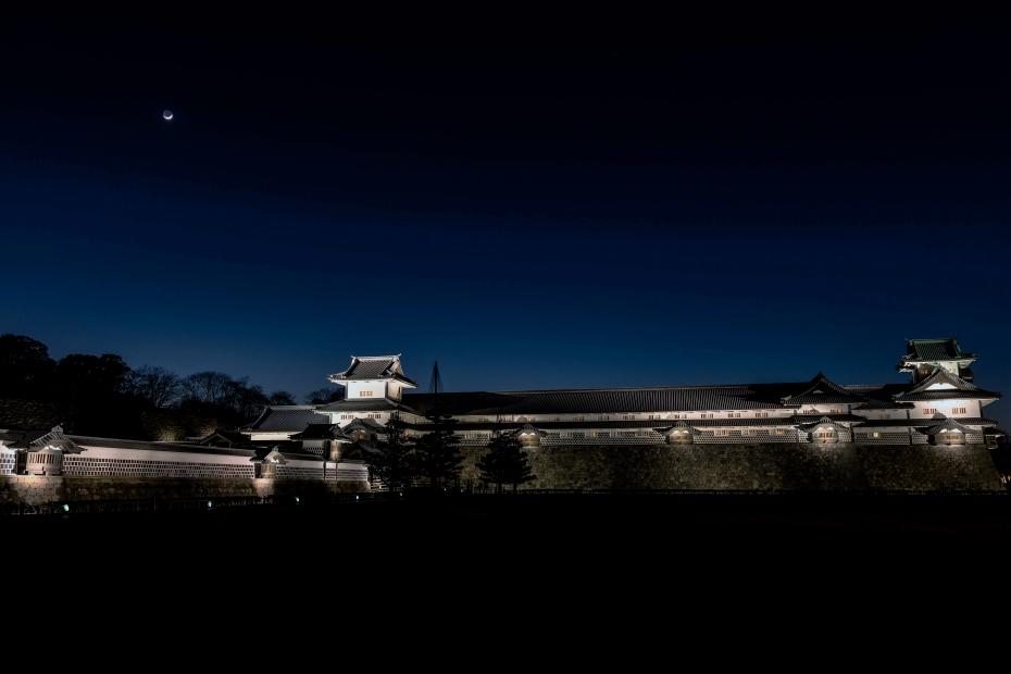 2016.02.11金沢城公園ライトアップ2