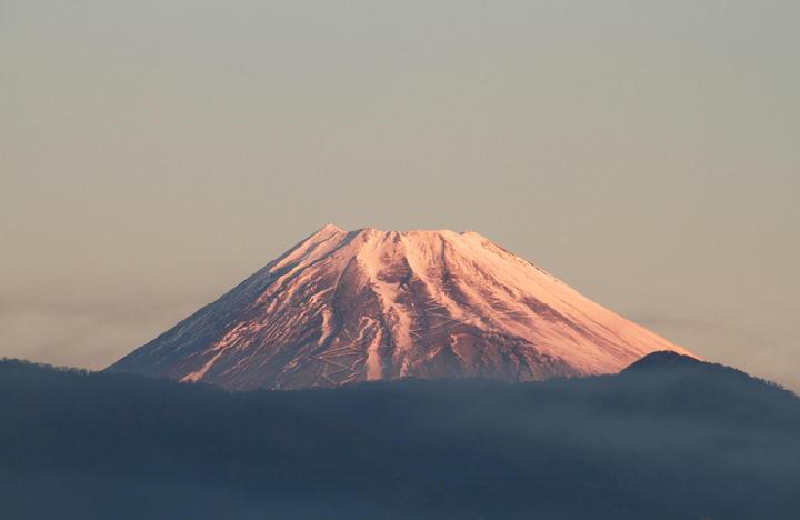 12月19日 6-49 今朝の富士山