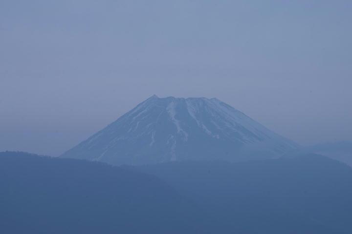 1月6日 7-18 今朝の富士山
