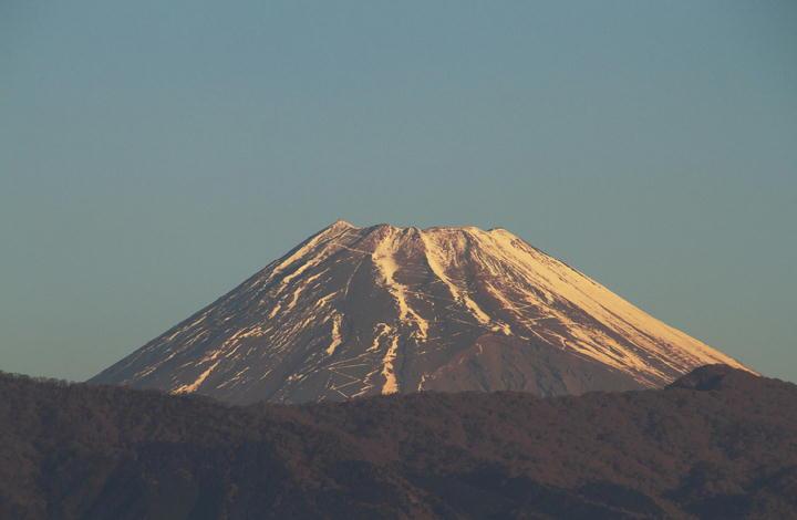 1月9日 7-18 今朝の富士山