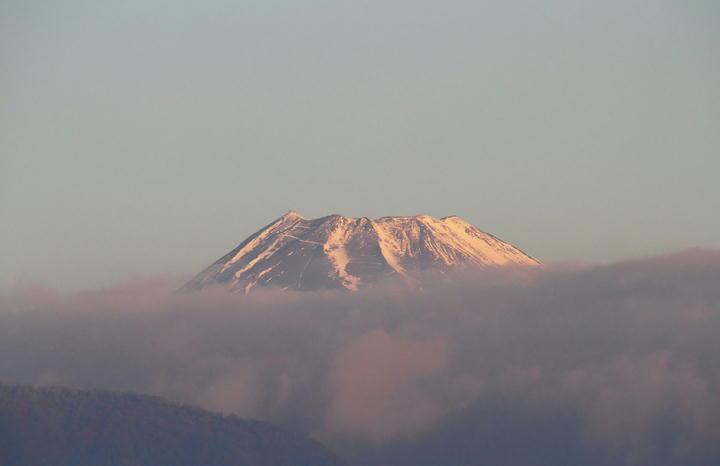 1月13日 7-10 今朝の富士山