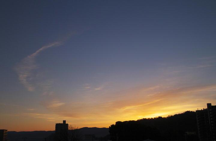 1月21日 6-55 東の空