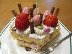 クリスマス会のケーキ