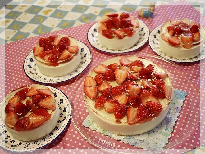 イチゴチーズケーキ3