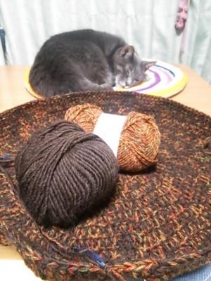 毛糸 猫用ベッド