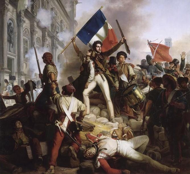 Révolution_de_1830_-_Combat_devant_lhôtel_de_ville_-_28_07_1830