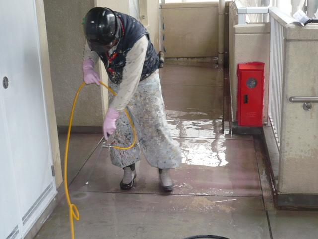 刈谷市市営住宅 シッカリート改質用塗布 280127