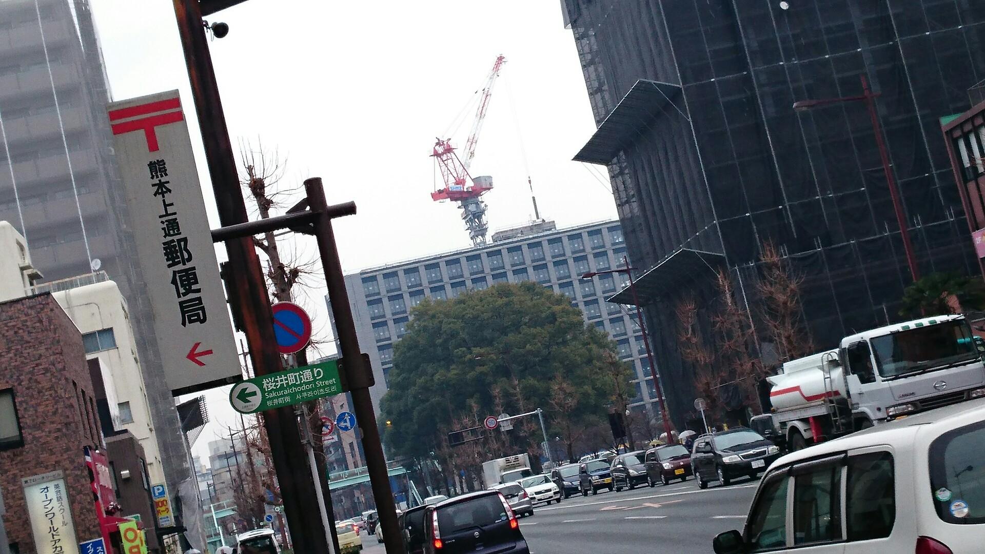 熊本市中央区北警察署隣りの再開発ビル - ラーメンブログ