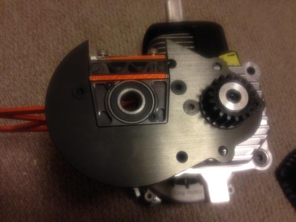 b056HDプレート、HDピニオン、HDギヤマウント仮付