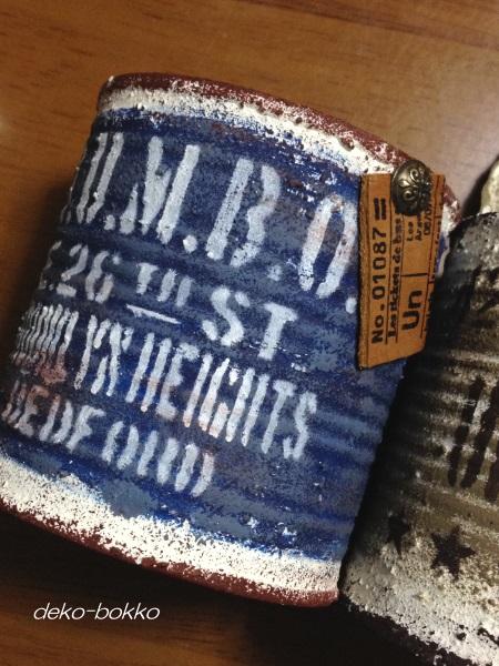 マーブルさんのリメ缶 ブルー 201602