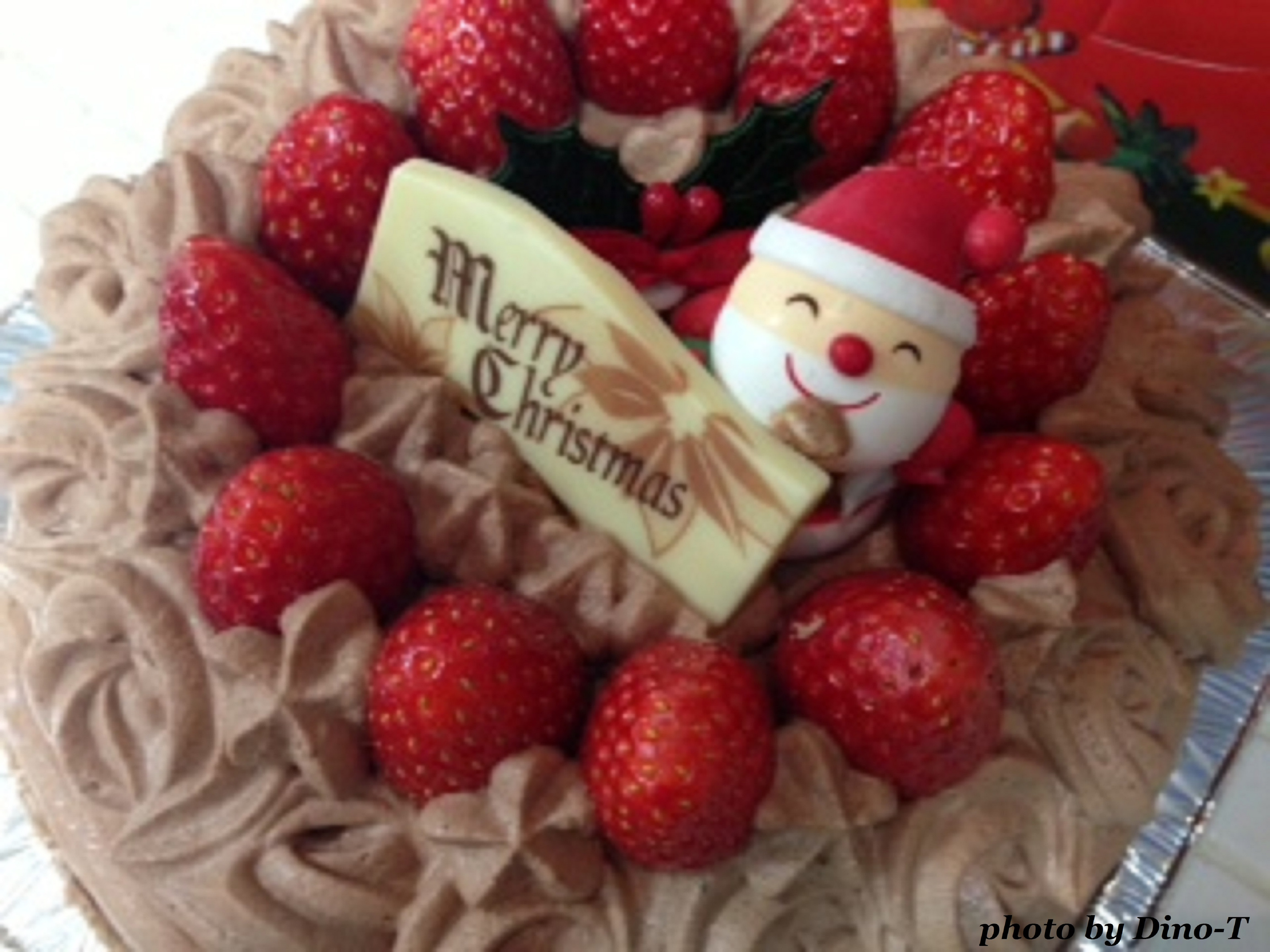 苺の生チョコケーキ1