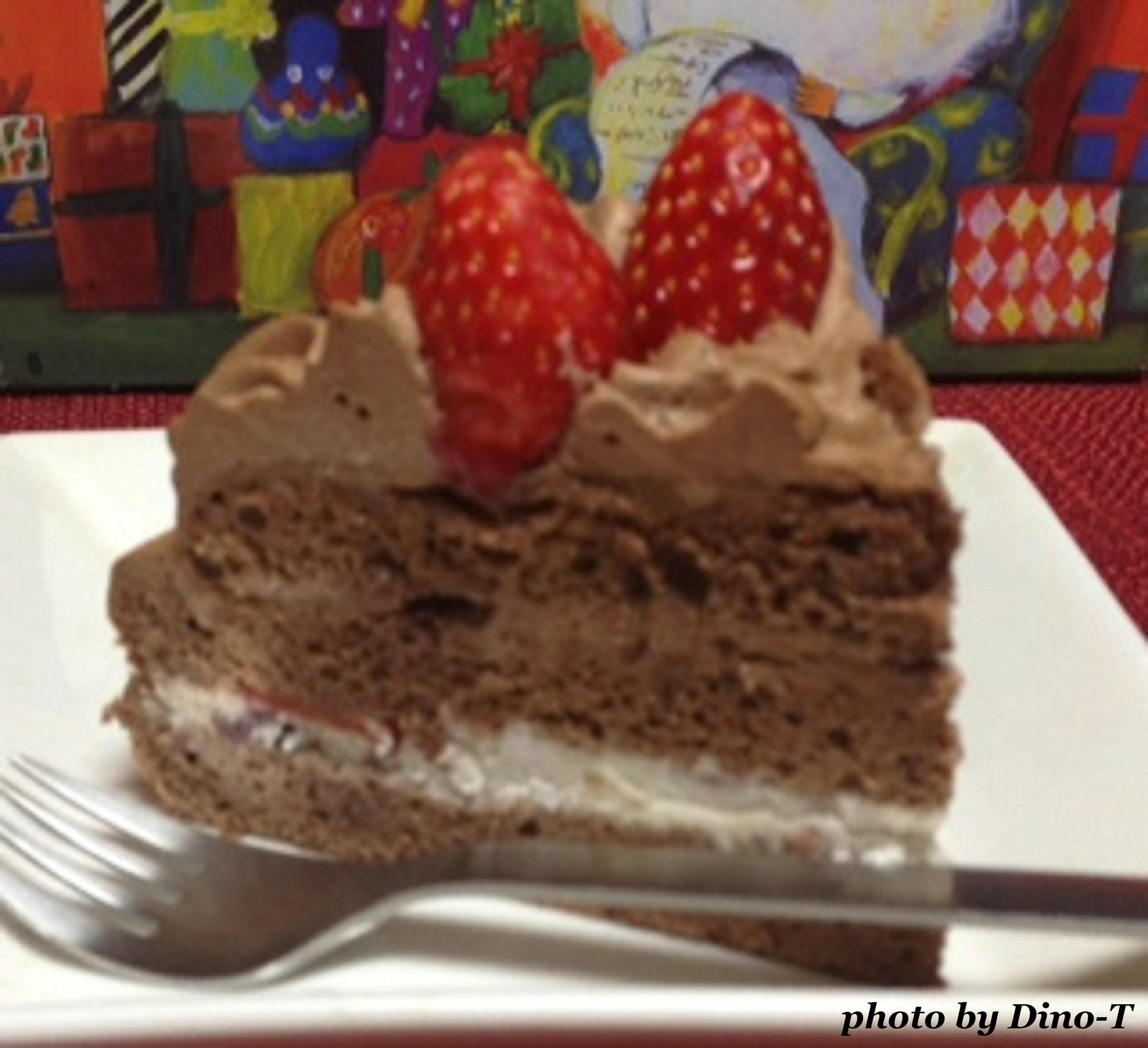 苺の生チョコケーキ2