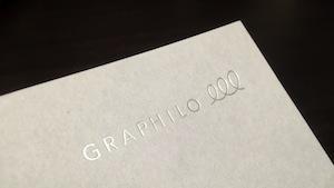 グラフィーロ - ロゴ箔押し
