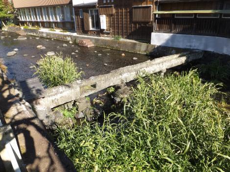 三島市・源兵衛川三石神社前水路橋