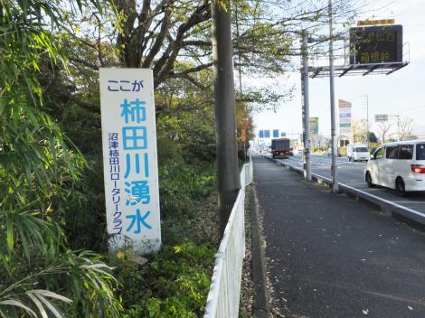 柿田川湧水案内看板