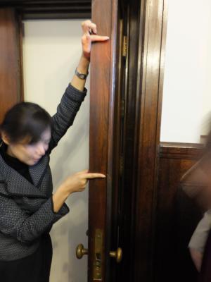市ヶ谷記念館・総監室ドア