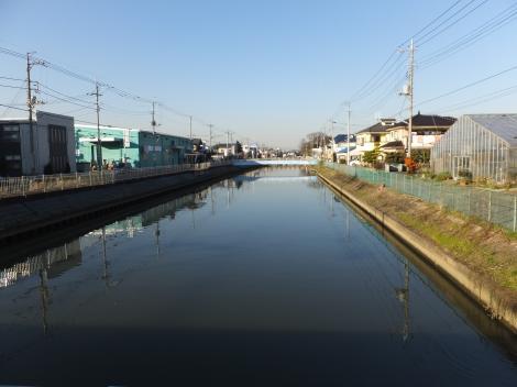 新和橋より大場川上流を望む