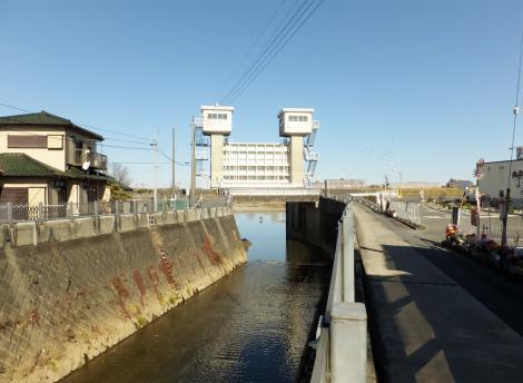 三沢川水門