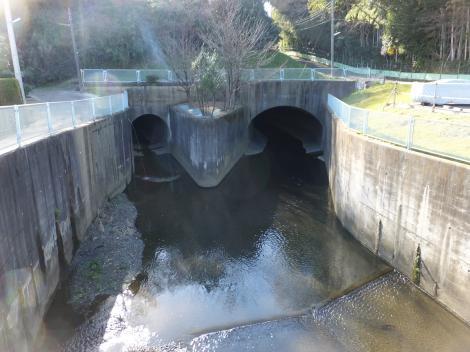 二ケ領用水・平瀬川交差点付近の平瀬川上流