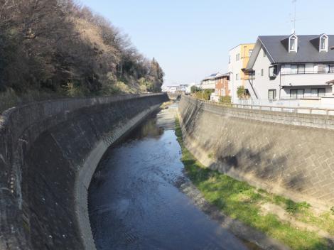三沢川・新旧三沢川分岐点付近