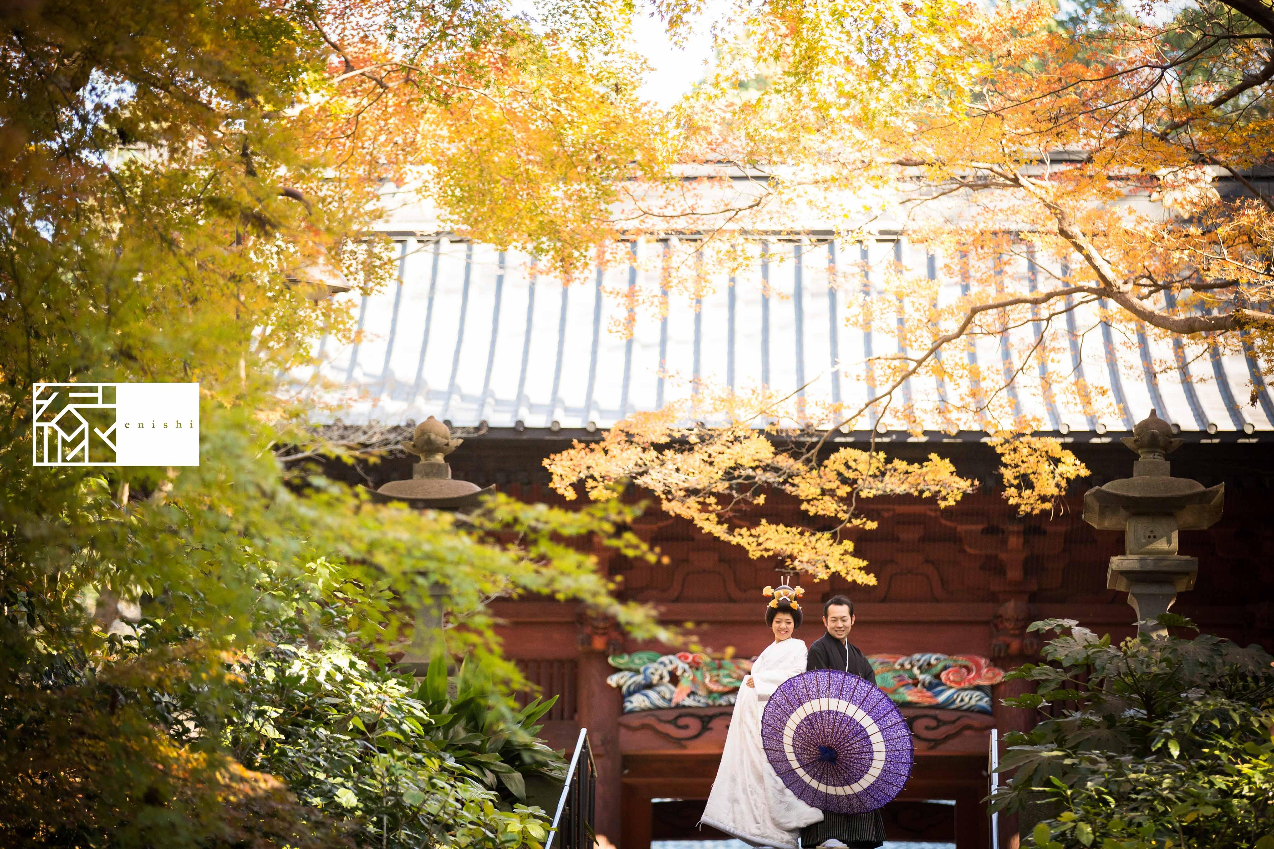 鎌倉和装紅葉前撮りフォト婚縁01