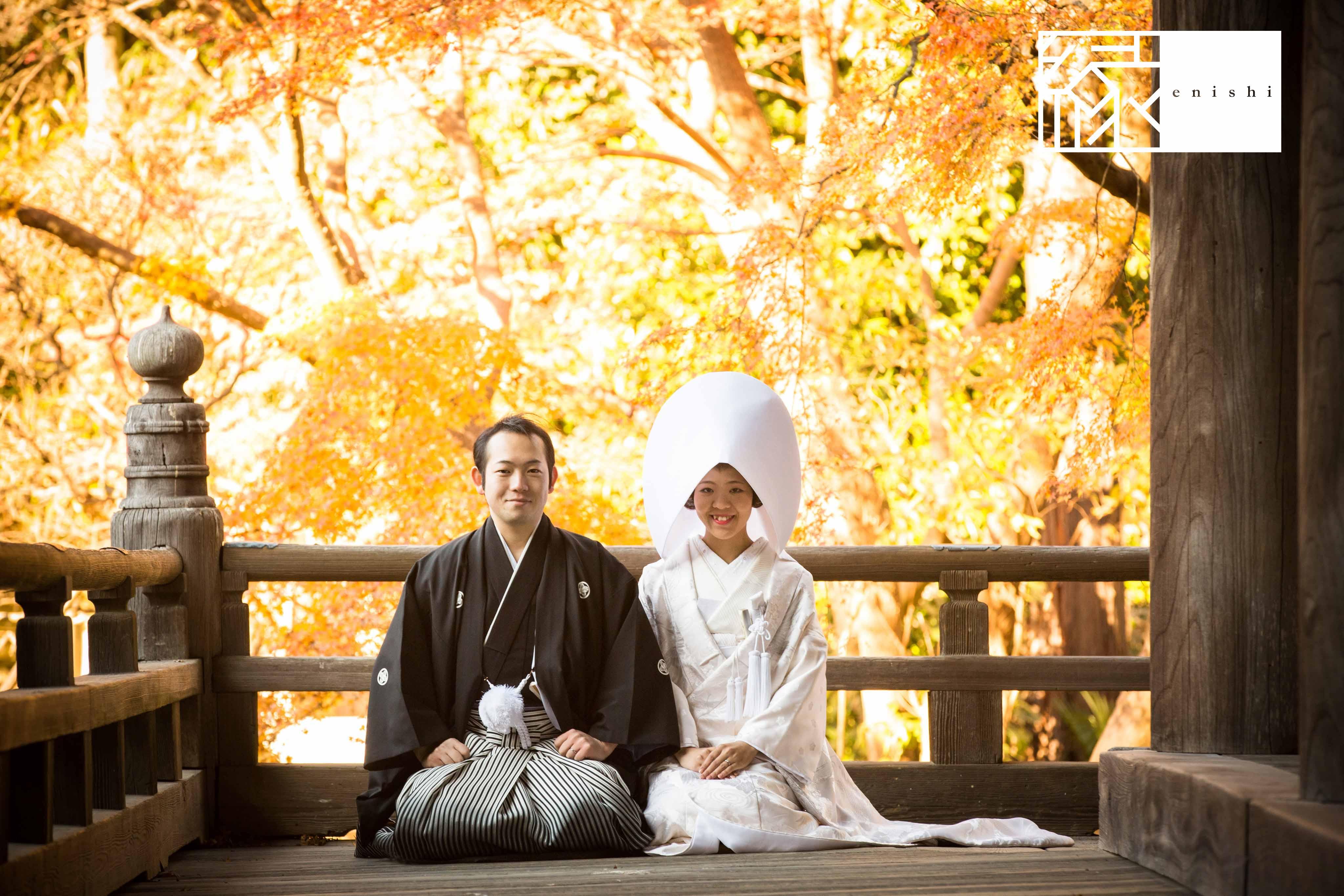 鎌倉和装紅葉前撮りフォト婚縁02
