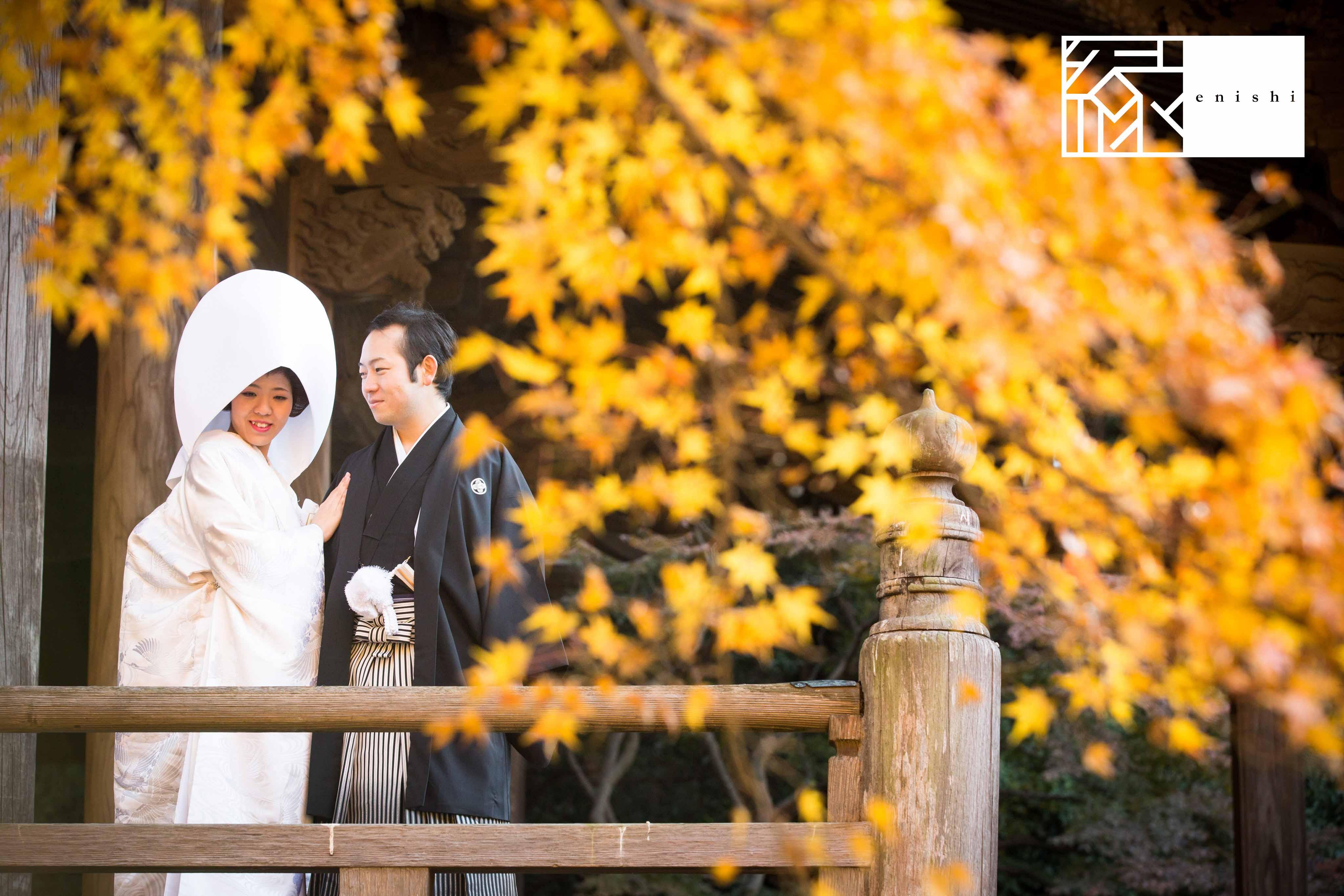 鎌倉和装紅葉前撮りフォト婚縁03