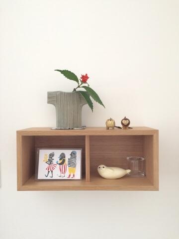 無印良品 良品週間 muji 壁に付けられる家具 箱 44cm オーク材 飾り棚 北欧雑貨 ディスプレイ リサラーソン マリメッコ イッタラ オブジェ