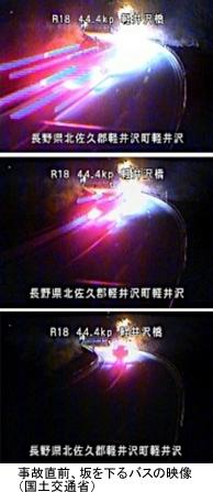 事故直前の映像