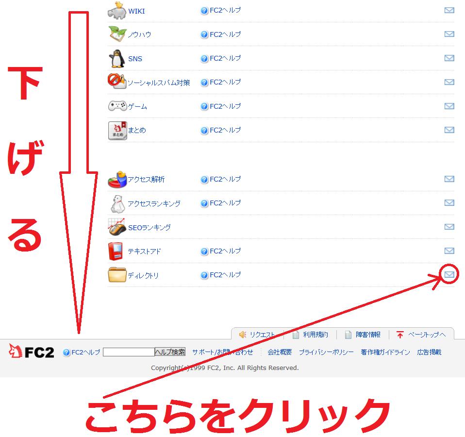 FC2ディレクトリの登録情報を変更する方法4