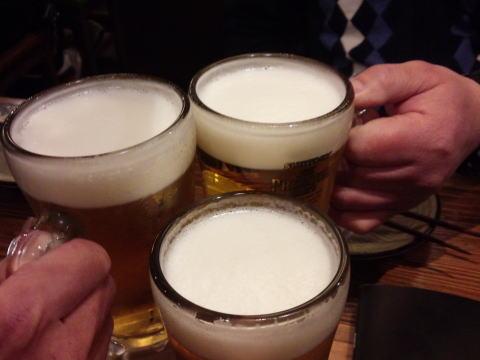 先ずは生で乾杯~