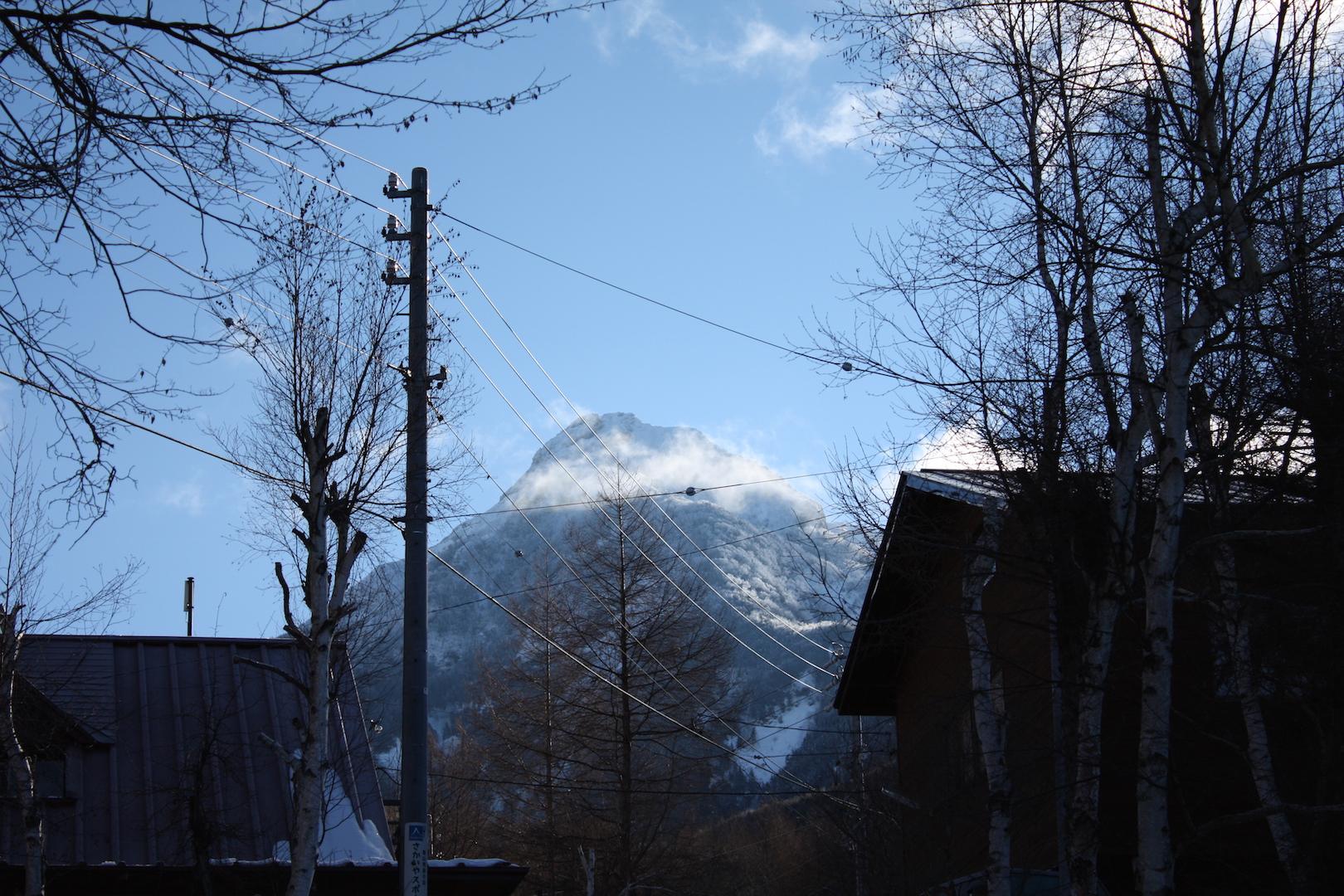 赤岳山荘付近より赤岳山頂