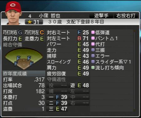 小窪哲也 プロ野球スピリッツ2015 ver1.10