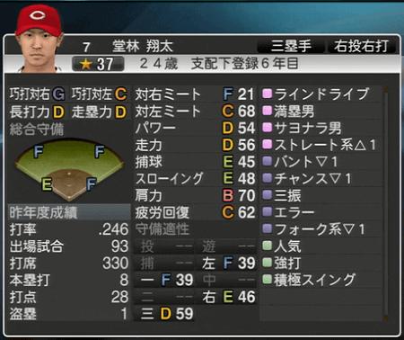 堂林翔太 プロ野球スピリッツ2015 ver1.10