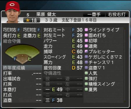 栗原健太 プロ野球スピリッツ2015 ver1.10