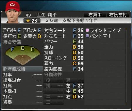 土生翔平 プロ野球スピリッツ2015 ver1.10