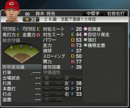 鈴木将光 プロ野球スピリッツ2015 ver1.10