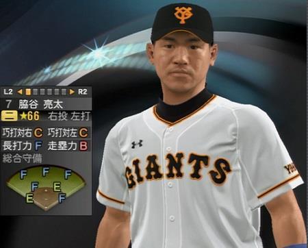 脇谷亮太内野手(34) 新ユニフォーム姿プロ野球スピリッツ2015