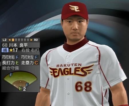 川本良平捕手(33)  新ユニフォーム プロ野球スピリッツ2015