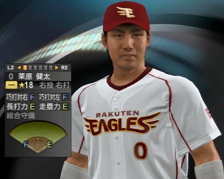 栗原健太内野手(33)  新ユニフォーム姿プロ野球スピリッツ2015