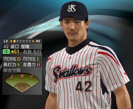 坂口智隆外野手(31) 新ユニフォーム姿プロ野球スピリッツ2015