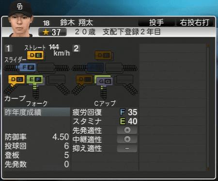 鈴木翔太 プロ野球スピリッツ2015 ver1.10