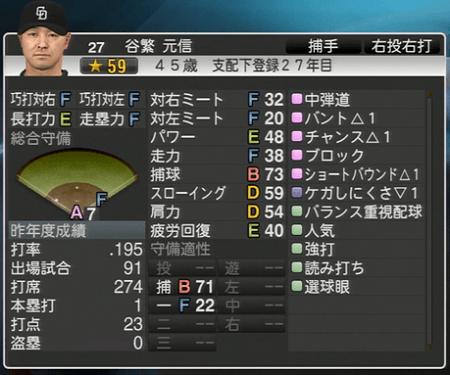 谷繁元信 プロ野球スピリッツ2015 ver1.10