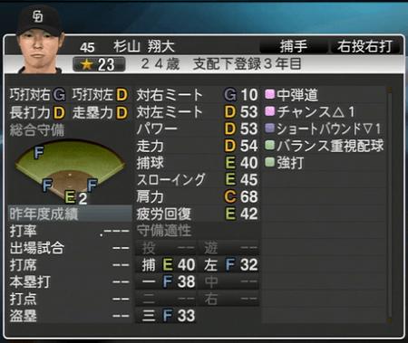 杉山翔大 プロ野球スピリッツ2015 ver1.10