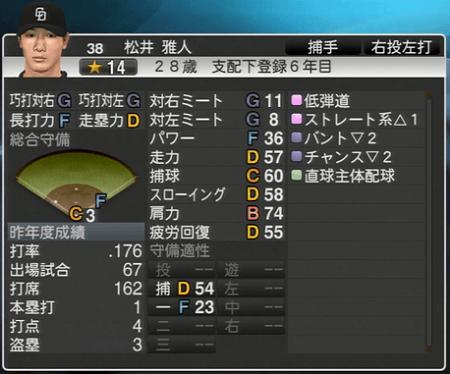 松井雅人 プロ野球スピリッツ2015 ver1.10