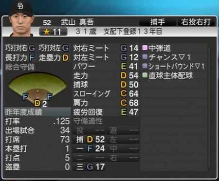 武山真吾 プロ野球スピリッツ2015 ver1.10