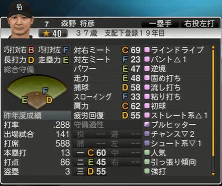 森野将彦 プロ野球スピリッツ2015 ver1.10