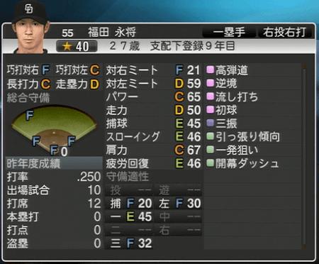 福田永将 プロ野球スピリッツ2015 ver1.10